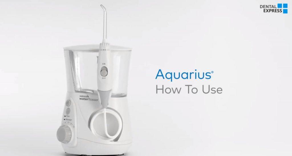 نحوه استفاده از دستگاه جرمگیر آبی دندان اکوآریس – How to Use the Waterpik Aquarius Professional Water Flosser