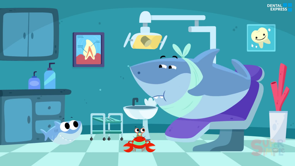 Finny Goes To The Dentist Finny The Shark Cartoon For Kids